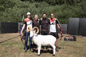 Einweihung Schaumberger Bogensportparcours mit Lisa Unruh und Florian Kahllund. Bogensportschule Saar